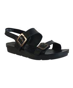 Black Maro Leather Sandal