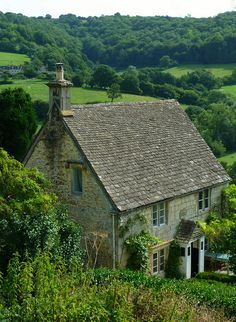 Rose Cottage at Slad. Slad is a village in Gloucestershire, England, within the Slad Valley stone cottages Stone Cottages, Cabins And Cottages, Stone Houses, Small Cottages, Cottage Living, Cozy Cottage, Cottage Homes, Irish Cottage, English Cottage Style