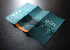 A brochure is the best way to promote your products or services. But in order to grab people attention the brochure should be attractive and beautiful. Graphic Design Brochure, Brochure Design Inspiration, Brochure Layout, Brochure Ideas, Magazine Ideas, Template Brochure, Design Presentation, Leaflet Design, Creative Brochure