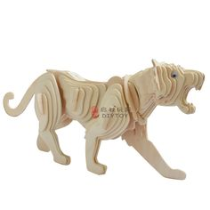 Animal Puzzle, Wood Crafts, Origami, Lion Sculpture, Statue, 3d, Model, Animals, Paper Board