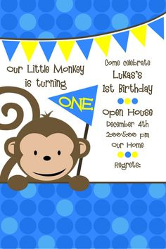Monkey Theme 1st Birthday