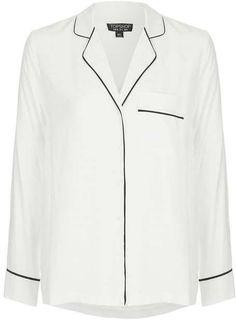 Contrast casual pyjama shirt Topshop Outfit, Pajama Shirt, Pajamas Women, Contrast, Asos, Shirt Dress, Blazer, Denim, Stylish