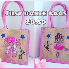 Childrens Party Bags, Fair Trade Jewelry, Ballet, Jute Bags, Keep Fit, Cotton Bag, Just Dance, Handmade Clothes, Handmade Shop
