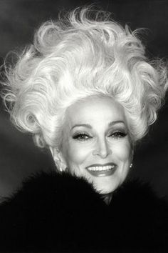Carmen Dell'Orefice.. Rocking it at 82.  I which I had her bones, and pray I get her hair.