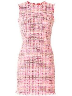 Alexander Mcqueen Ribbon Tweed Sheath Dress In Pink Sarah Burton, Alexander Mcqueen, Royal Dresses, Day Dresses, Tweed Dress, Knit Dress, Tweed Suit Women, Classic Outfits, British Style