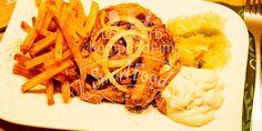 Gyrosteller mit knusprigen Low Carb Pommes Frites