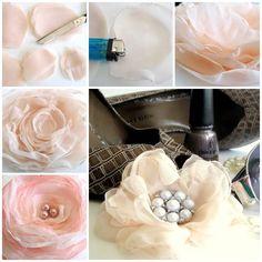 DIY Delicate Chiffon Flower   iCreativeIdeas.com LIKE Us on Facebook ==> https://www.facebook.com/icreativeideas