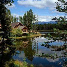 Casa lago naturaleza