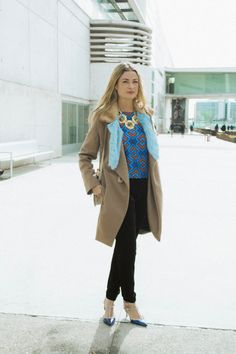 Moda en la calle en la Semana de la Moda de Madrid febrero 2014 © A. Moral