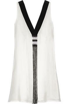 ZEUS+DIONE Tilos tasseled silk crepe de chine dress €490.00 http://www.net-a-porter.com/products/516633