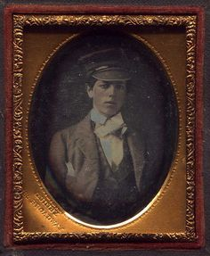 New York Boy with Hat Photo by: Charles J. Quinby, New York, NY, USA Date: c. 1855-1856 Type: 1/9 Plate Daguerreotype Info: Charles J. Quinby was a renown daguerreotypist