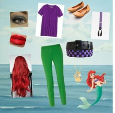 """""""Ariel the little mermaid"""" by nicoledmauro ❤ liked on Polyvore"""