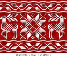 Similar Images, Stock Photos & Vectors of Knitted seamless pattern. Fair Isle Chart, Fair Isle Knitting, Knitted Blankets, Red Sweaters, Knitting Patterns, Sweater Patterns, Royalty Free Images, Mittens, Charts