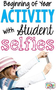 Student Selfies: Here's a fun activity I do with my students at the beginning of the school year.