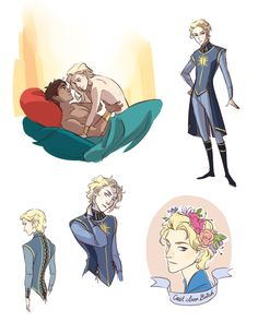 I just finished reading Captive Prince and I must report that it has ruined my life The pose in the top left doodle is inspired by one of @saltroclus's drawings, which are amazing and make me cry ;u;