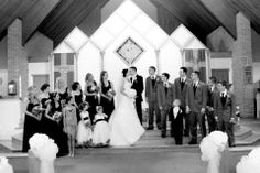 Bridal Party On The Alter | Pauleenanne Design | Ultimate Images Photography