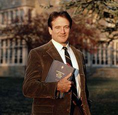 """Robin Williams en """"El Club de los Poetas Muertos"""", 1989"""