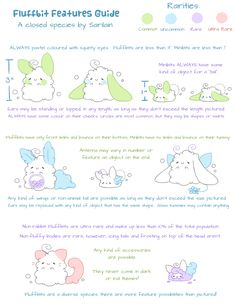 Fluffbit Species Guide by Sarilain on DeviantArt