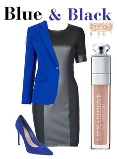 Blue & Black by tubino-skirts-dresses onhttp://tubino.nl/shop/kokerjurken/coco-black-dress-2/ featuring mode, Pink Inc, Henri Bendel, Christian Dior, black, dress, tailored and BusinessWoman