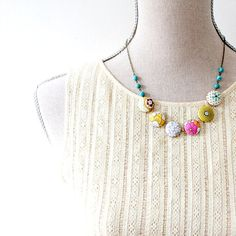 Colorful Textile and Turquoise Statement by NestPrettyThingsShop, $48.00