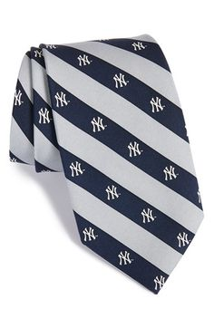Men's Vineyard Vines 'New York Yankees - MLB' Print Silk Tie