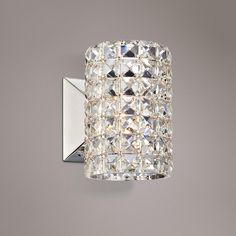 "Vienna Full Spectrum Crystal Cylinder 6 1/2"" High Sconce"