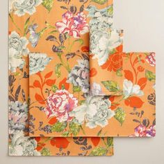 One of my favorite discoveries at WorldMarket.com: Regina Floral Table Linen Collection