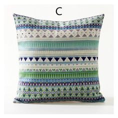 Bohemian style colorful geometric pillow for sofa abstract sofa cushions 18 inch