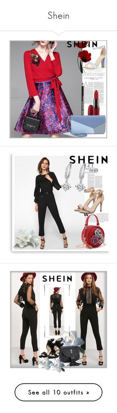 """Shein"" by melikasalkic ❤ liked on Polyvore featuring Nicole, NYX, MAC Cosmetics, Lanvin, Valentino, Givenchy, WALL, WithChic and Gucci"