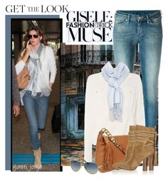 Get The Look-Gisele by goreti on Polyvore featuring polyvore fashion style Michael Kors 7 For All Mankind Spectrum GetTheLook modelstyle