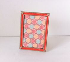 Vintage Gold Picture Frame Metal Frame Red Velvet by RetroTiles 5x7 Frames, Gold Picture Frames, Table Top Display, Boho Gypsy, Art Pictures, Red Velvet, Decorative Boxes, Retro, Handmade