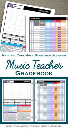 For all my music teacher friends, PIN THIS NOW!! This music teacher gradebook has all the information you need to keep track of your elementary music classes; seating chart, standards, student tracking, editable assessment categories, planning and more - ALL ON TWO PAGES!!
