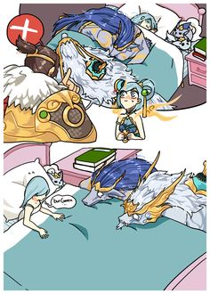 League of Legends - Nasus, Warwick and Lux Lol League Of Legends, Champions League Of Legends, League Of Legends Charaktere, League Of Memes, Funny Images, Funny Pictures, Comic Anime, Short Comics, Gaming Memes