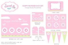 FREE Mother's Day Party Printables from Sweet as Designs
