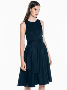 Crisp Stretch Cotton Circle Dress