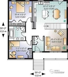 Rez-de-chaussée Plain-pied économique de 5 chambres, 2 salons, chambre froide…