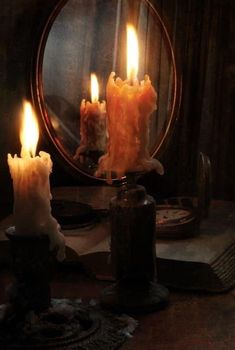 Candle Lanterns, Candle Sconces, Mirror Candle, Mirror Mirror, Chandelier Bougie, Modern Mansion, Candle Magic, Witch Aesthetic, Belle Photo