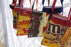 Mini Purse made of upcycled candy wrappers by PurseJunky on Etsy, $20.00