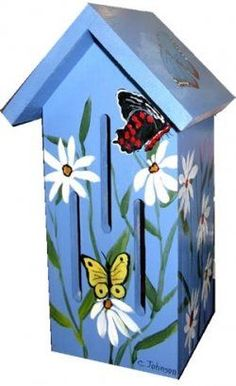 Unique butterfly houses and tips for attracting butterflies.