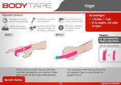 Finger Tapen Kinesiologie / Schritt für Schritt Anleitung ⚠️ Mehr unter: www.bodytape.net