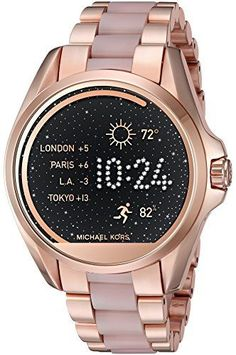 Michael Kors Access Touch Screen Rose Gold Acetate Bradshaw Smartwatch MKT5013 https://www.carrywatches.com/product/michael-kors-access-touch-screen-rose-gold-acetate-bradshaw-smartwatch-mkt5013/ Michael Kors Access Touch Screen Rose Gold Acetate Bradshaw Smartwatch MKT5013