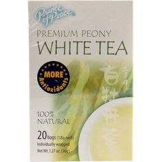 Prince Of Peace 1X 20 Bag Peony White Tea Peony White Tea, Considered One Of The Premium Grades Of White Tea, Is Made Of Young Leaves And Buds From The Camellia Sinensis Plant, Hand Picked During The Fresh Spring Harvest In China`s Fujian Province. : (Note: This Product Description Is Informational Only. Always Check The Actual Product Label In Your Possession For The Most Accurate Ingredient Information Before Use. For Any Health Or Dietary Related Matter Always Consult Your Doctor Befo...
