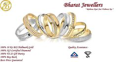 #BIS & #IGI #Certified #Diamond #Jewellery And #Hallmark #Gold #Jewellery From Bharat Jewellers!