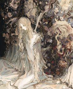 Alphonse Mucha, Arte Grunge, Fairy Art, Beautiful Drawings, Klimt, Pretty Art, Art Plastique, Aesthetic Art, Japanese Art