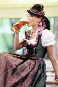 I love to dress up. This is my 'Dirndl' that I bought just for the Oktoberfest, Munich. I am there 'as we speak' 09/26/14 #beer #bavaria #germany