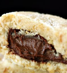 I recently discussed how I'm comfortable enough with my baking skills to make substitutions in recipes in a somewhat 'willy nilly' fashion, changing aspects of a recipe the very f… Nutella Filled Cookies, Hazelnut Cookies, Almond Cookies, Yummy Cookies, Italian Cookie Recipes, Italian Cookies, Fun Desserts, Delicious Desserts, Festive Bread