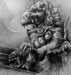 The Emperor's Dragon » Ian Murphy Drawings