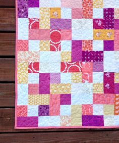 Baby quilt: Ansley's Swell
