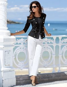 Sober and Elegant Nautical Outfits to Try in 20160361 Casual Chic, Casual Wear, Casual Outfits, Mode Outfits, Fashion Outfits, Womens Fashion, Fashion Trends, Ladies Fashion, Girl Fashion