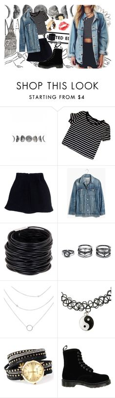 """""""When you touched me for the very first time,"""" by jessalxanders ❤ liked on Polyvore featuring Acne Studios, Madewell, Saachi, LULUS, Dr. Martens and Sugoi"""